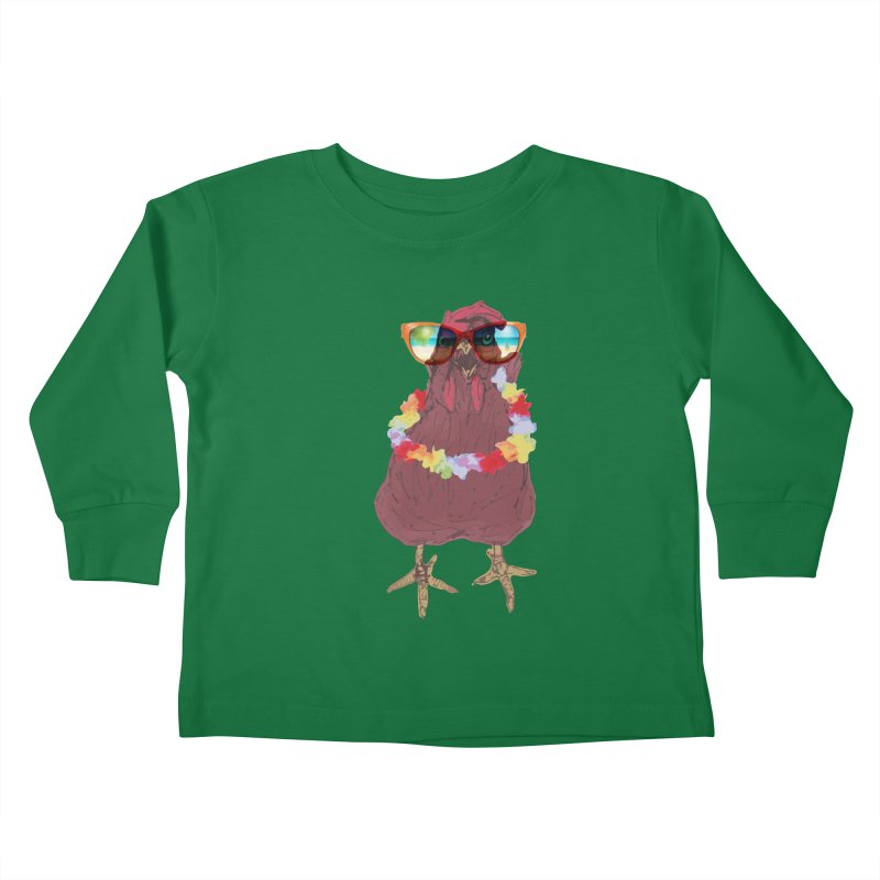 Aloha CHICKEN!!  Kids Toddler Longsleeve T-Shirt by BRIANWANDTKEART's Artist Shop