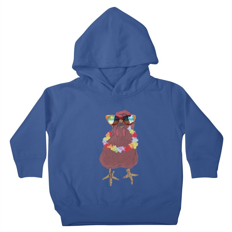 Aloha CHICKEN!!  Kids Toddler Pullover Hoody by BRIANWANDTKEART's Artist Shop