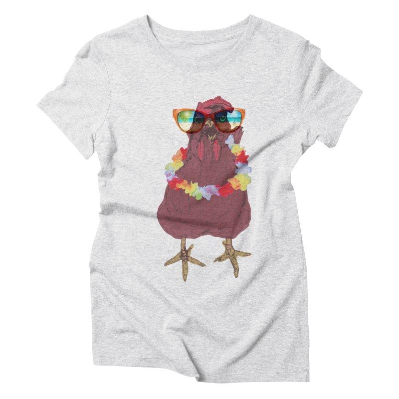 Aloha CHICKEN!!  Women's Triblend T-shirt by BRIANWANDTKEART's Artist Shop