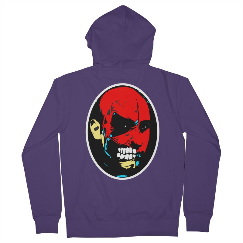 Face of two Women's French Terry Zip-Up Hoody by BRIANWANDTKEART's Artist Shop