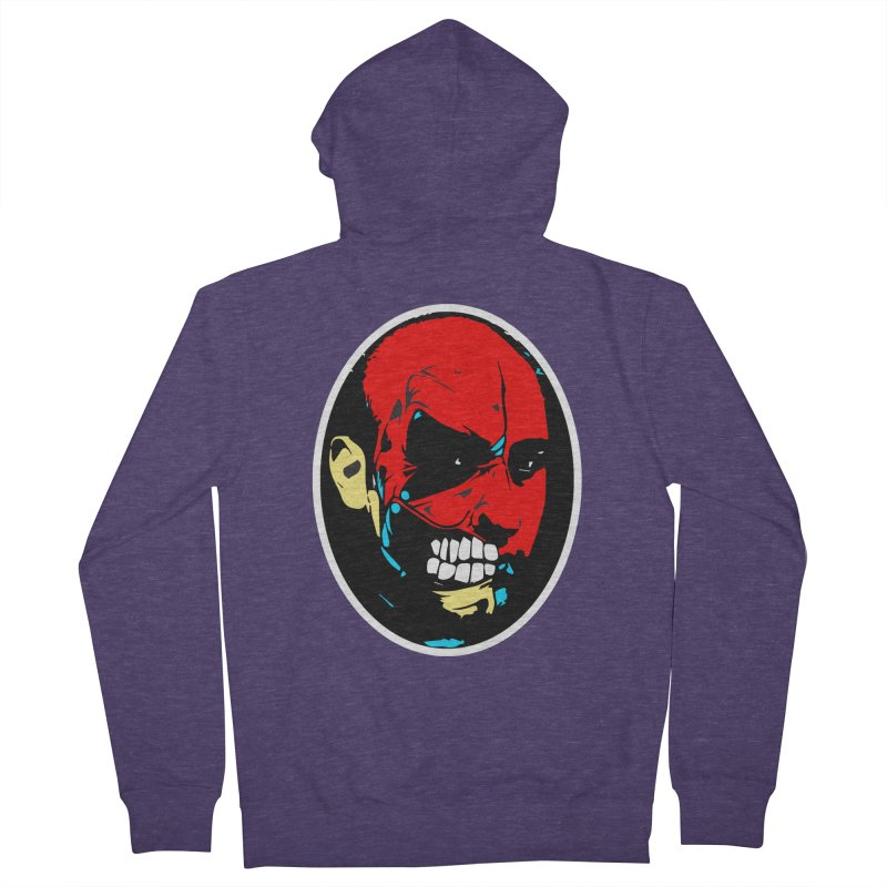 Face of two Men's French Terry Zip-Up Hoody by BRIANWANDTKEART's Artist Shop