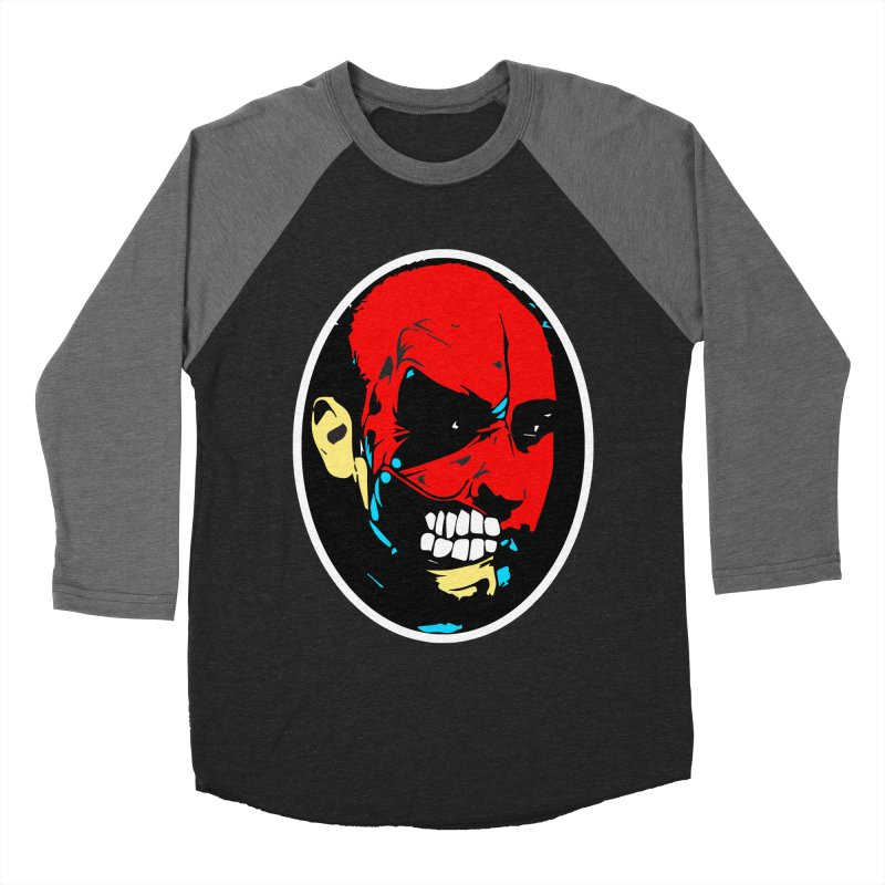 Face of two Men's Baseball Triblend Longsleeve T-Shirt by BRIANWANDTKEART's Artist Shop