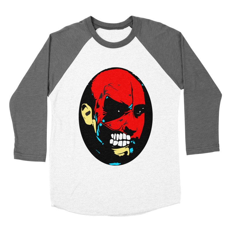Face of two Men's Baseball Triblend T-Shirt by BRIANWANDTKEART's Artist Shop