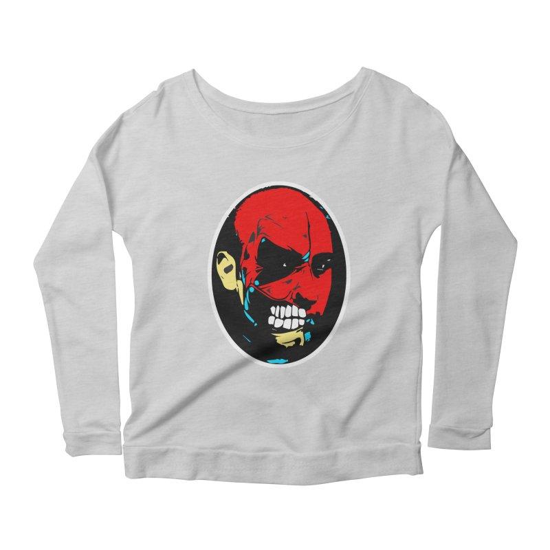 Face of two Women's Scoop Neck Longsleeve T-Shirt by BRIANWANDTKEART's Artist Shop