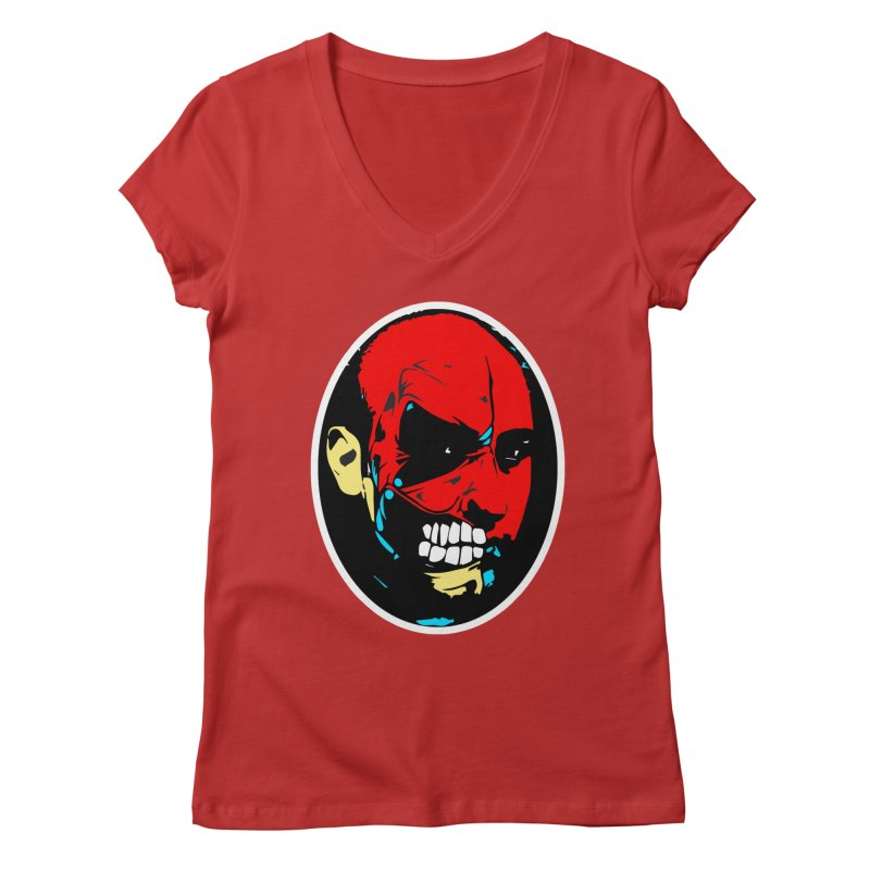 Face of two Women's V-Neck by BRIANWANDTKEART's Artist Shop