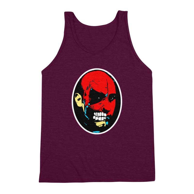 Face of two Men's Triblend Tank by BRIANWANDTKEART's Artist Shop