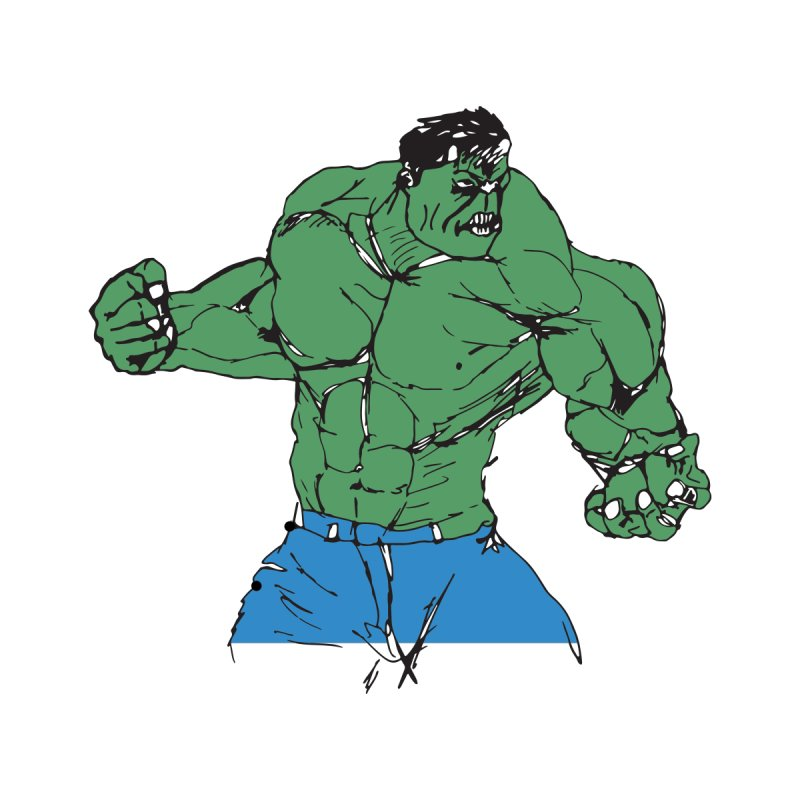 incredible hulk by BRIANWANDTKEART's Artist Shop