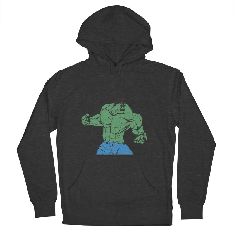 incredible hulk Men's French Terry Pullover Hoody by BRIANWANDTKEART's Artist Shop