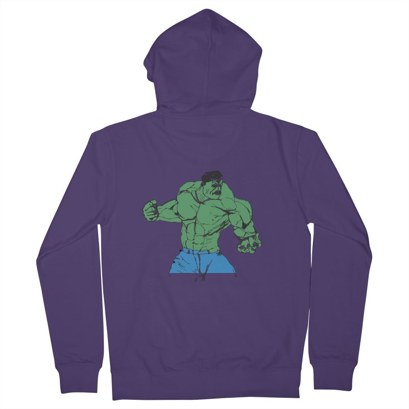 incredible hulk Women's French Terry Zip-Up Hoody by BRIANWANDTKEART's Artist Shop