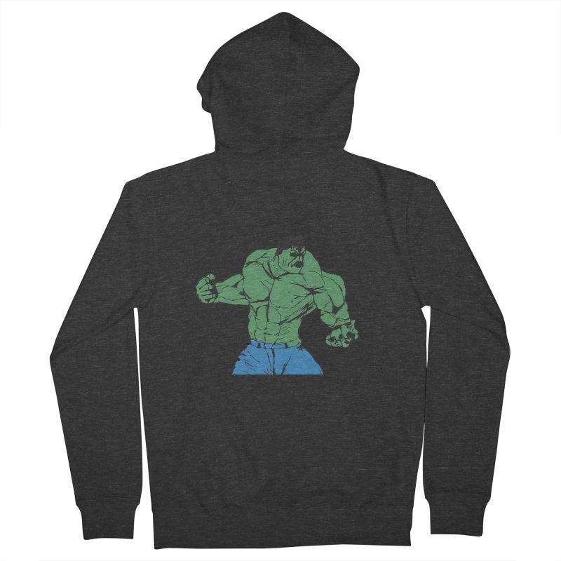 incredible hulk Men's Zip-Up Hoody by BRIANWANDTKEART's Artist Shop