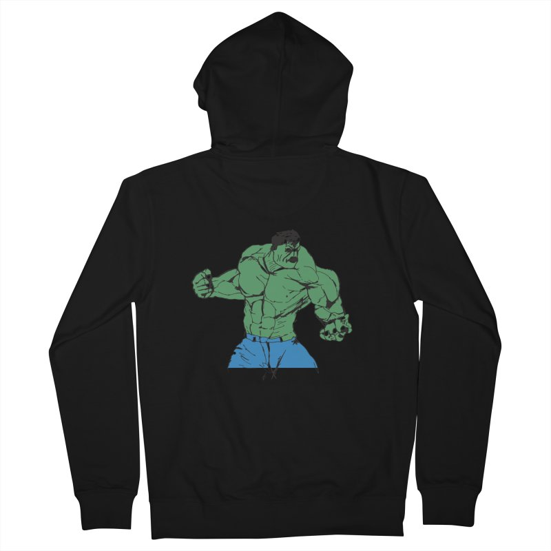 incredible hulk Men's Zip-Up Hoody by BRIANWANDTKEART's Artist Shop