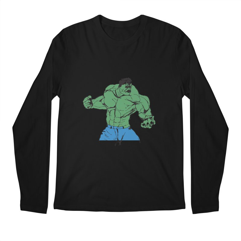 incredible hulk Men's Longsleeve T-Shirt by BRIANWANDTKEART's Artist Shop