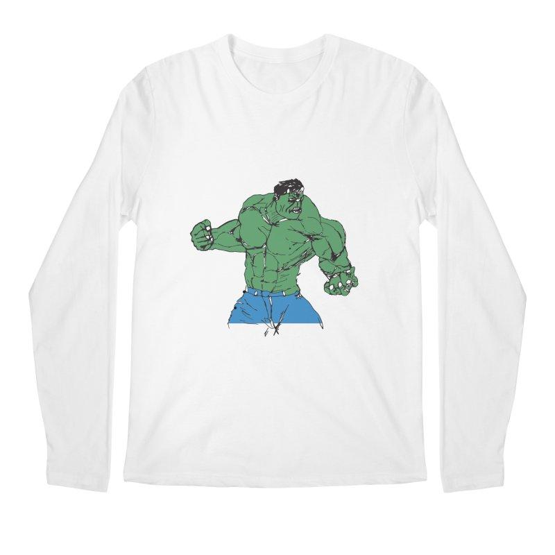 incredible hulk Men's Longsleeve T-Shirt by BRIANWANDTKEART's Artist Shop