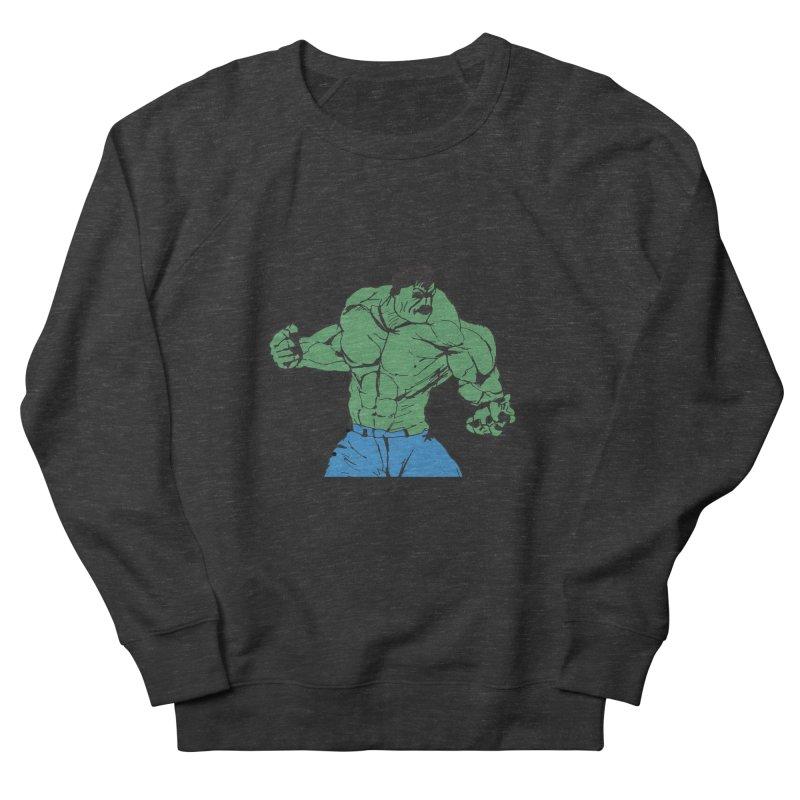 incredible hulk Men's French Terry Sweatshirt by BRIANWANDTKEART's Artist Shop