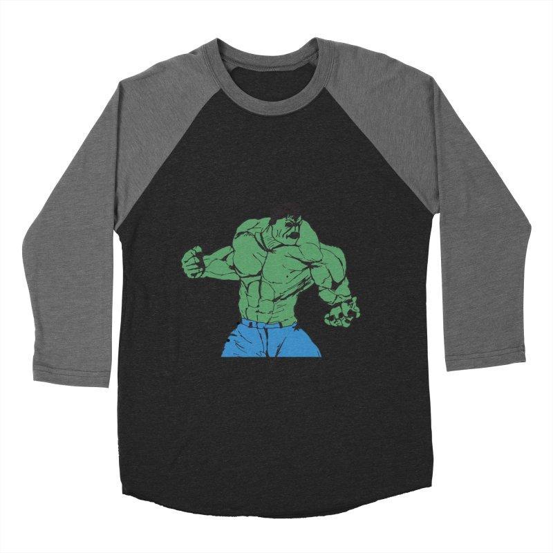 incredible hulk Men's Baseball Triblend Longsleeve T-Shirt by BRIANWANDTKEART's Artist Shop