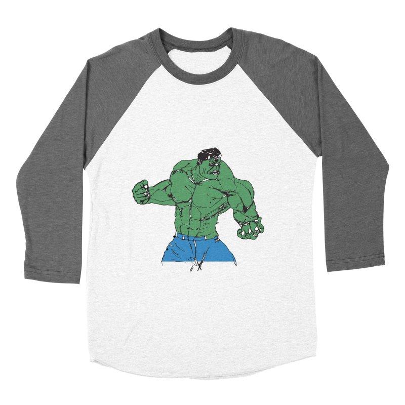 incredible hulk Men's Baseball Triblend T-Shirt by BRIANWANDTKEART's Artist Shop