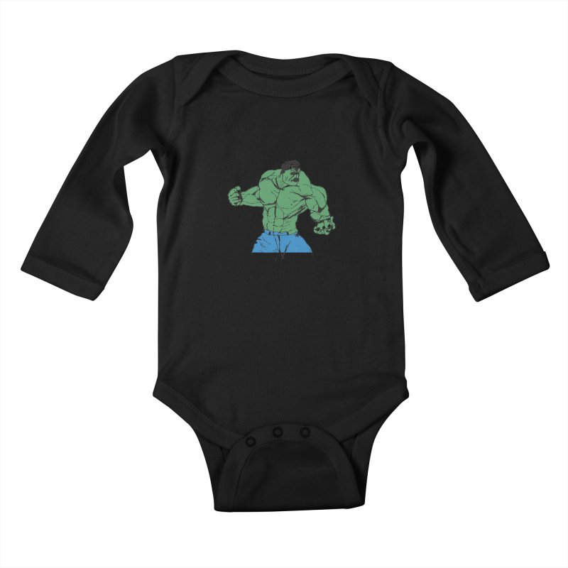 incredible hulk Kids Baby Longsleeve Bodysuit by BRIANWANDTKEART's Artist Shop