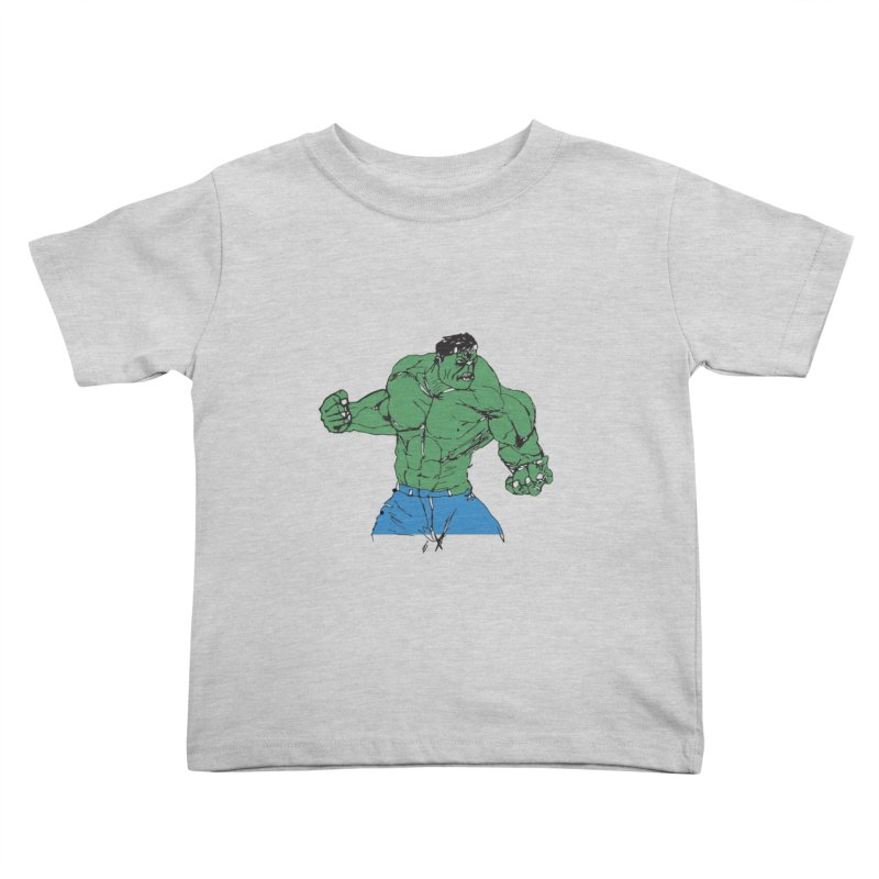incredible hulk Kids Toddler T-Shirt by BRIANWANDTKEART's Artist Shop