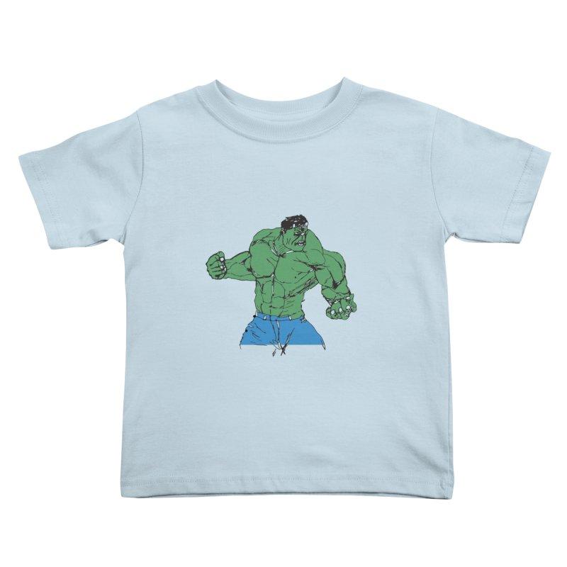 incredible hulk Kids Toddler T-Shirt by BRIANWANDTKEART's Artist Shop