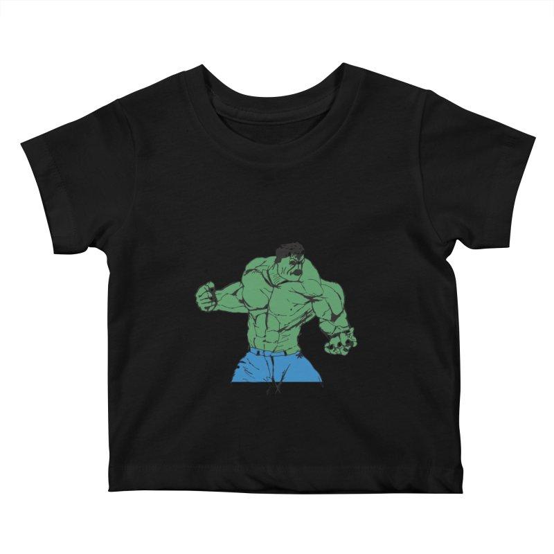 incredible hulk Kids Baby T-Shirt by BRIANWANDTKEART's Artist Shop