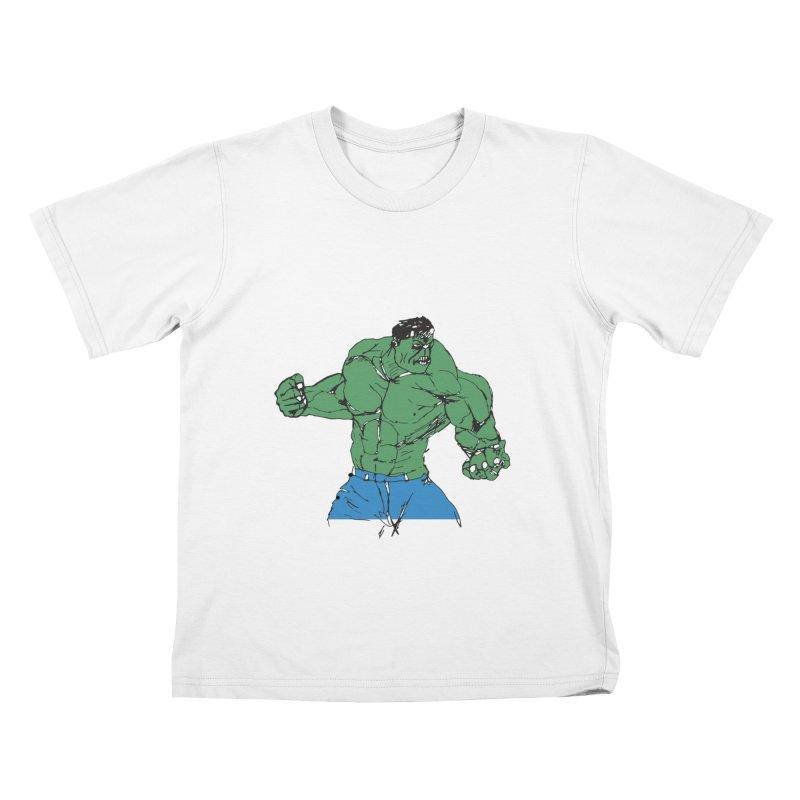 incredible hulk Kids T-shirt by BRIANWANDTKEART's Artist Shop