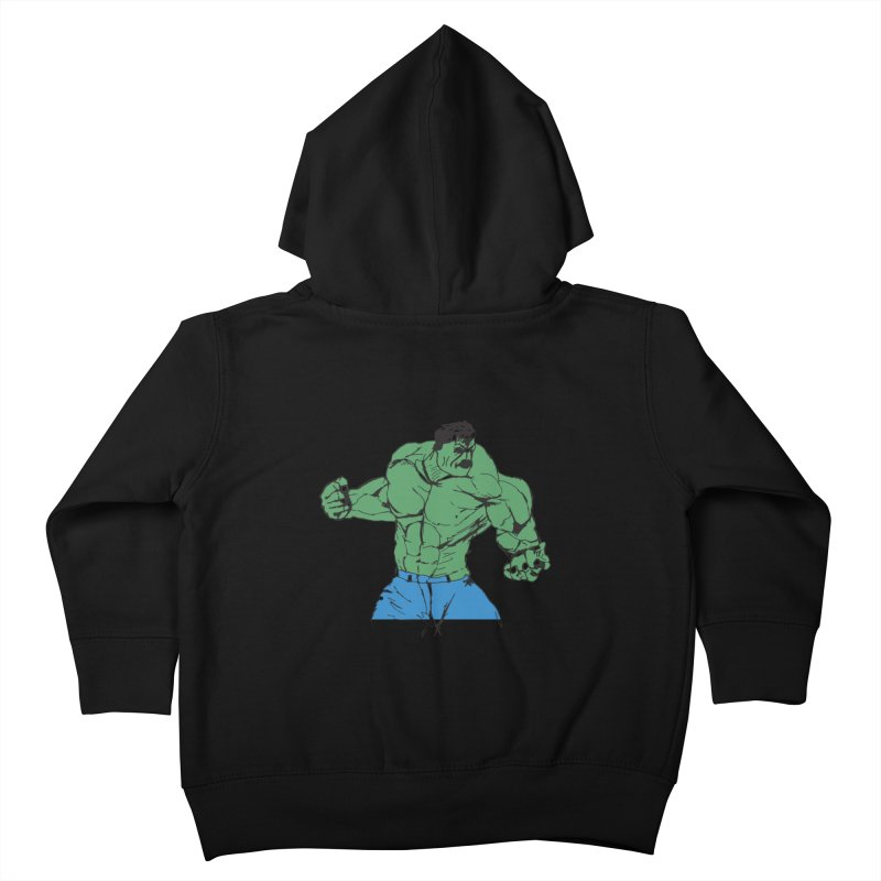 incredible hulk Kids Toddler Zip-Up Hoody by BRIANWANDTKEART's Artist Shop