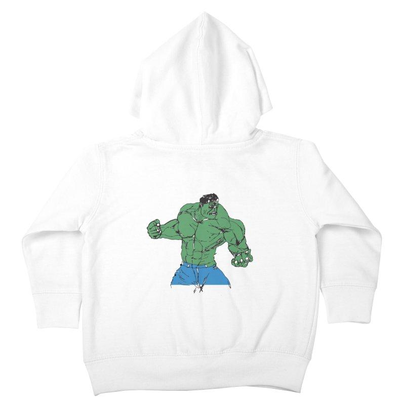 incredible hulk Kids Toddler Zip-Up Hoody by BRIANWANDTKEART's Artist Shop