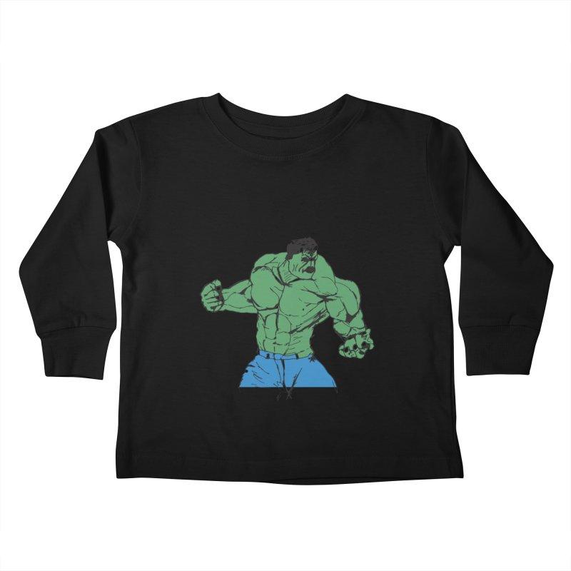 incredible hulk Kids Toddler Longsleeve T-Shirt by BRIANWANDTKEART's Artist Shop