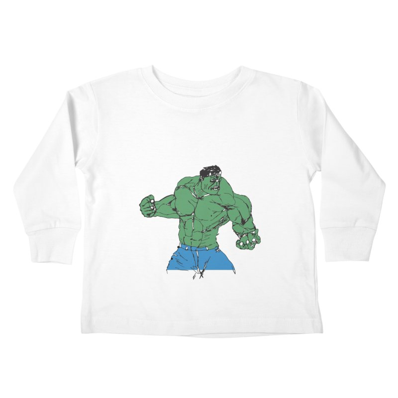 incredible hulk Kids Toddler Longsleeve T-Shirt by BRIANWANDTKEART's Artist Shop