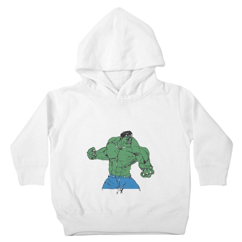 incredible hulk Kids Toddler Pullover Hoody by BRIANWANDTKEART's Artist Shop