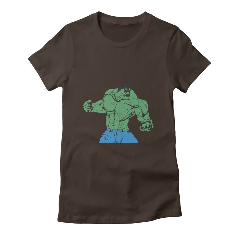 incredible hulk Women's Fitted T-Shirt by BRIANWANDTKEART's Artist Shop