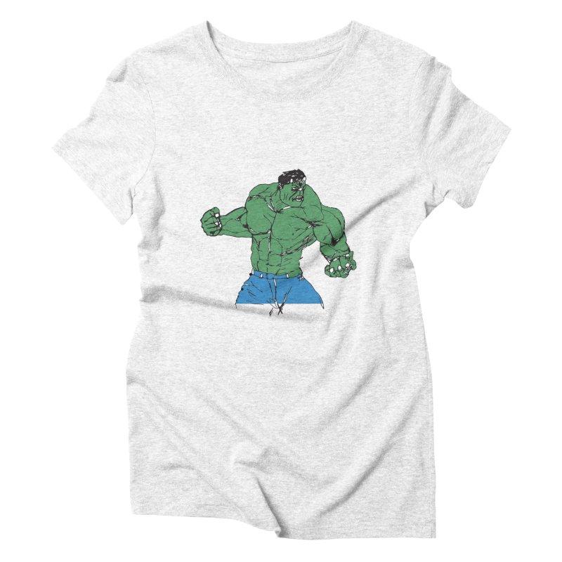 incredible hulk Women's Triblend T-shirt by BRIANWANDTKEART's Artist Shop