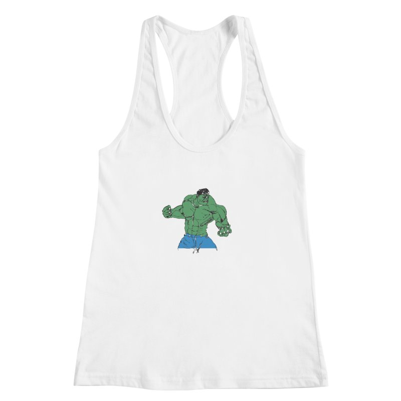 incredible hulk Women's Racerback Tank by BRIANWANDTKEART's Artist Shop