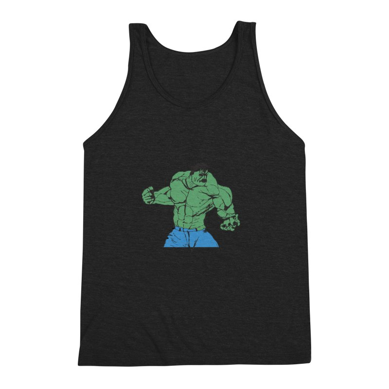 incredible hulk Men's Triblend Tank by BRIANWANDTKEART's Artist Shop