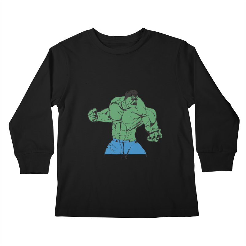 incredible hulk Kids Longsleeve T-Shirt by BRIANWANDTKEART's Artist Shop