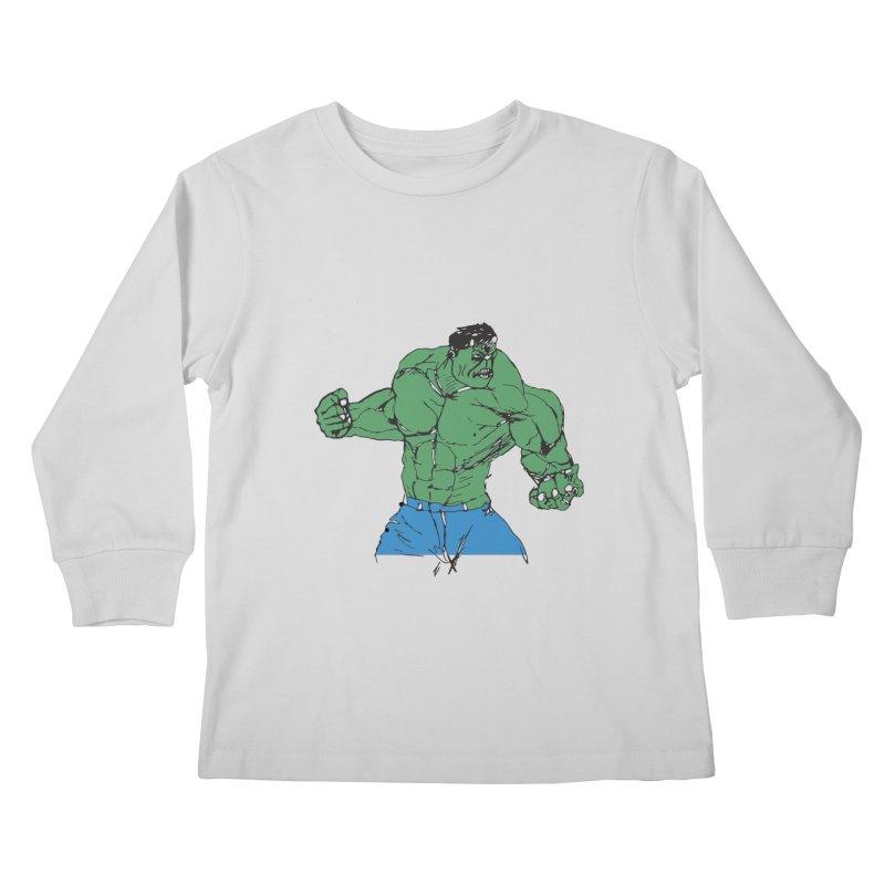 incredible hulk Kids Longsleeve T-Shirt by BRIANWANDTKEART's Artist Shop