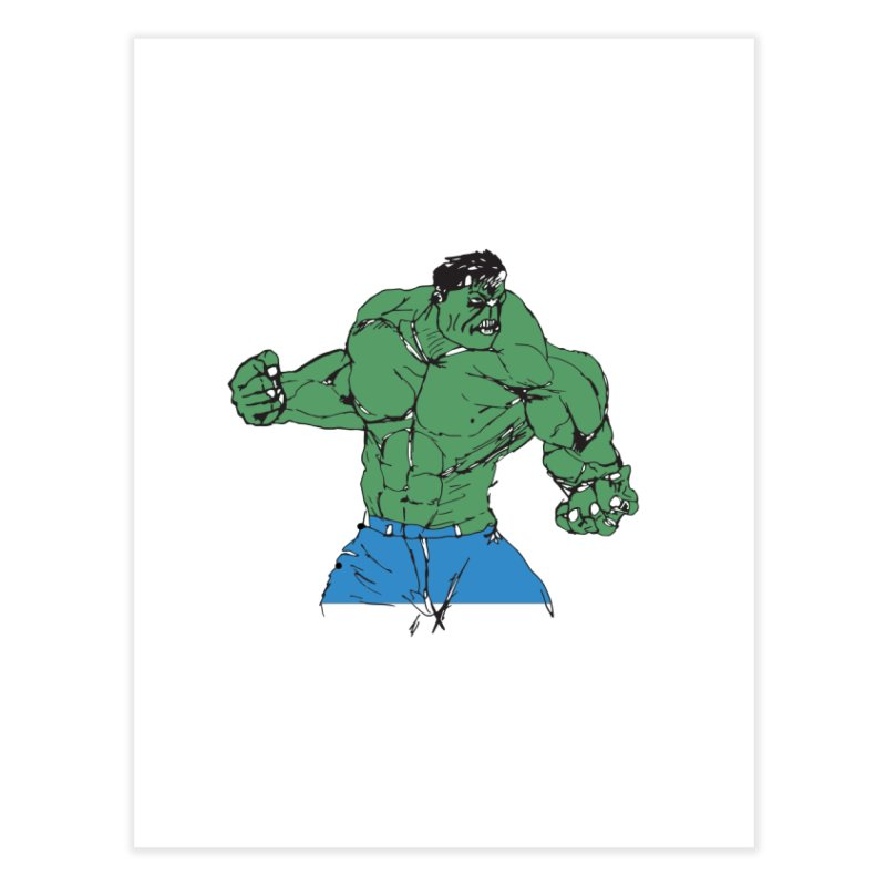 incredible hulk Home Fine Art Print by BRIANWANDTKEART's Artist Shop