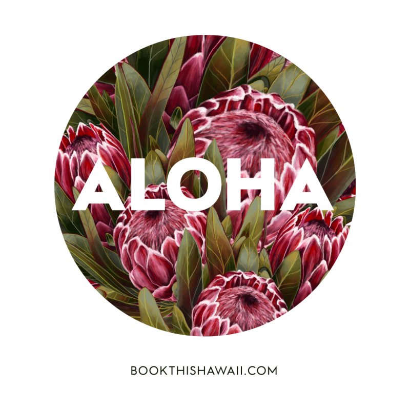 ALOHA.floral circle Accessories Water Bottle by Book This Hawaii Apparel Shop