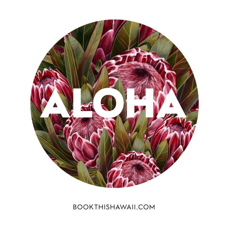 ALOHA.floral circle Home Throw Pillow by Book This Hawaii Apparel Shop