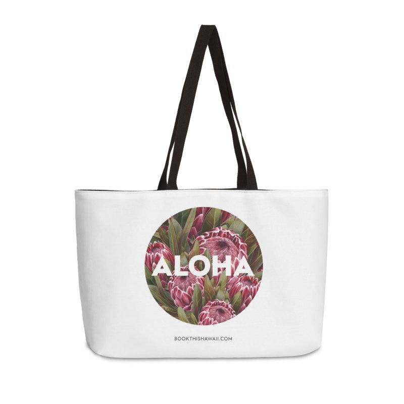 ALOHA.floral circle Accessories Weekender Bag Bag by Book This Hawaii Apparel Shop