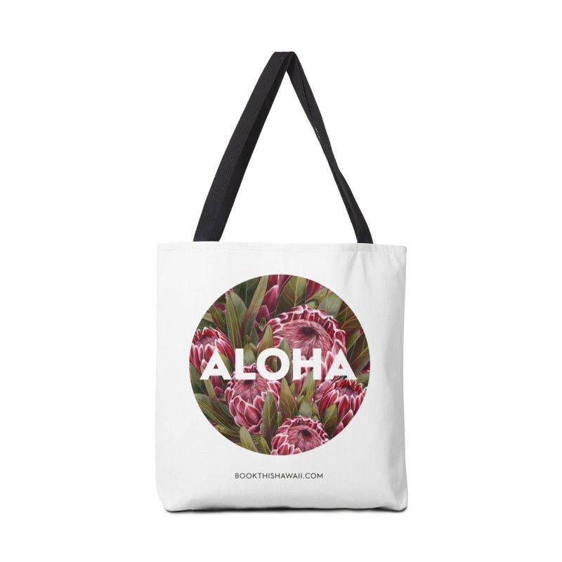 ALOHA.floral circle Accessories Tote Bag Bag by Book This Hawaii Apparel Shop