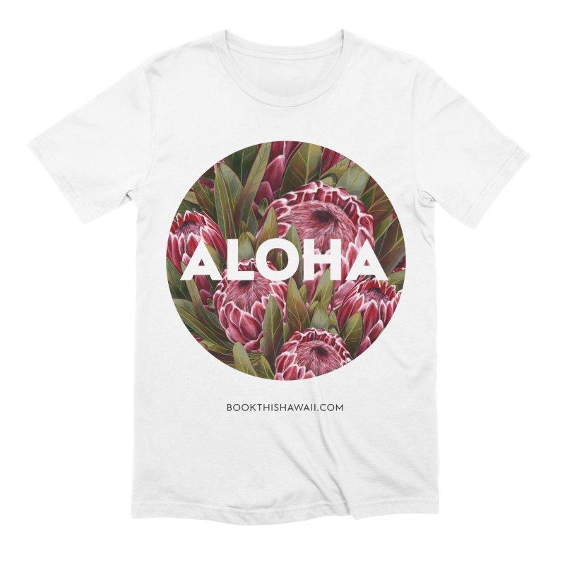 ALOHA.floral circle Men's Extra Soft T-Shirt by Book This Hawaii Apparel Shop