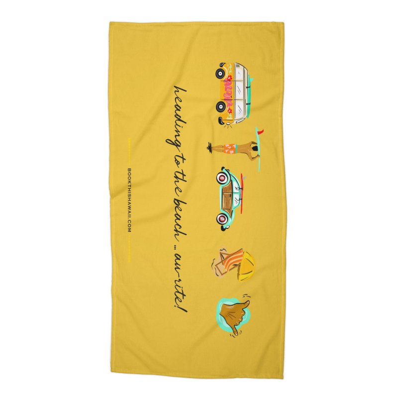 BTH.heading to beach.emoji Accessories Beach Towel by Book This Hawaii Apparel Shop