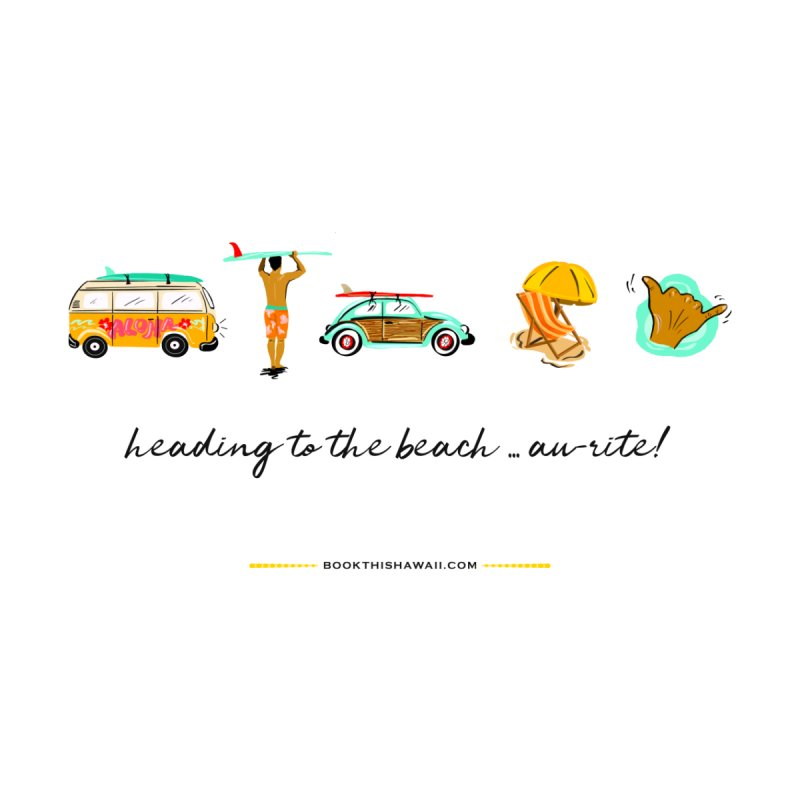 BTH.heading to beach.emoji by Book This Hawaii Apparel Shop