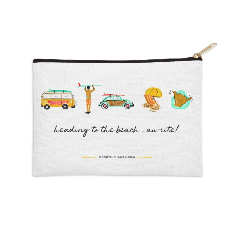 BTH.heading to beach.emoji Accessories Zip Pouch by Book This Hawaii Apparel Shop