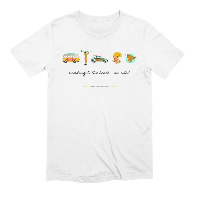 BTH.heading to beach.emoji in Men's Extra Soft T-Shirt White by Book This Hawaii Apparel Shop