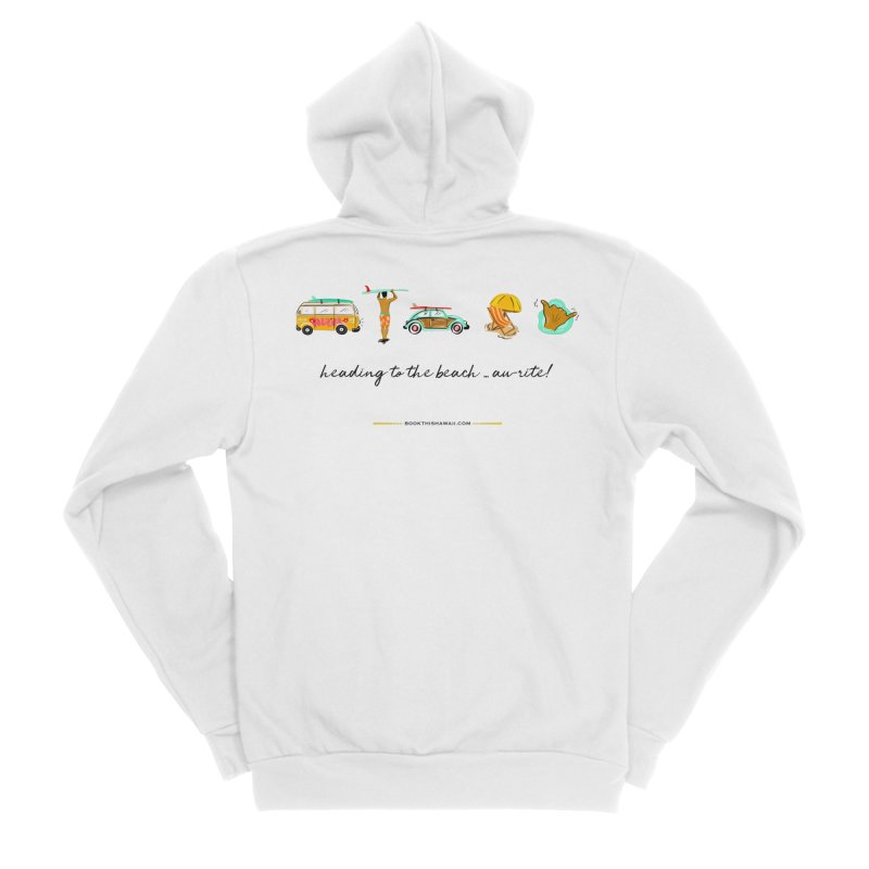 BTH.heading to beach.emoji Women's Sponge Fleece Zip-Up Hoody by Book This Hawaii Apparel Shop
