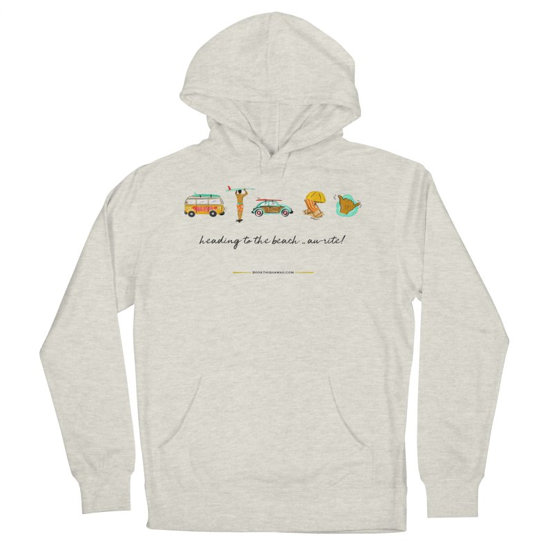 BTH.heading to beach.emoji Women's French Terry Pullover Hoody by Book This Hawaii Apparel Shop
