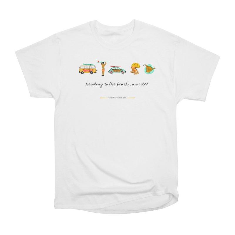 BTH.heading to beach.emoji Men's Heavyweight T-Shirt by Book This Hawaii Apparel Shop
