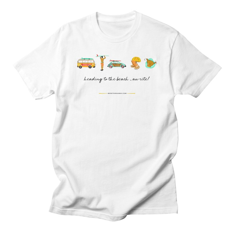 BTH.heading to beach.emoji Men's Regular T-Shirt by Book This Hawaii Apparel Shop